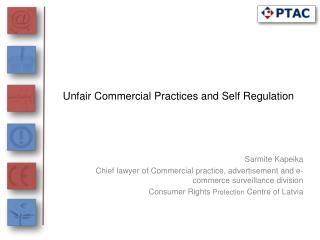 Unfair Commercial Practices and Self Regulation