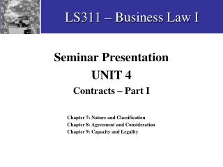 LS311 � Business Law I