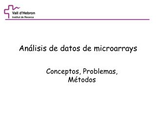 Análisis de datos de microarrays