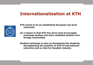 Internationalisation at KTH