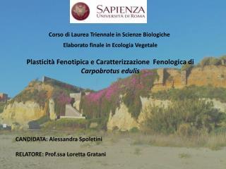 Corso di Laurea Triennale in Scienze Biologiche