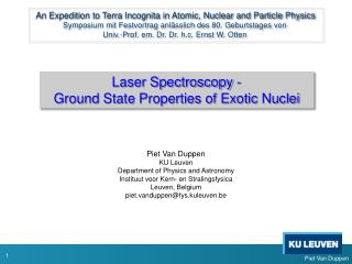 Laser Spectroscopy - Ground  State Properties of Exotic  Nuclei