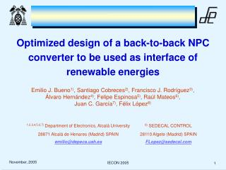 Optimized design of a back-to-back NPC converter to be used as interface of renewable energies