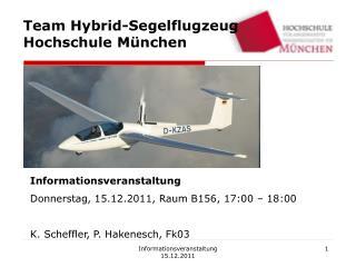 Team Hybrid-Segelflugzeug Hochschule M�nchen