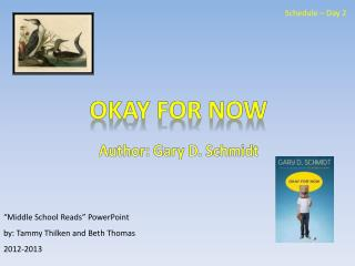 """""""Middle School Reads"""" PowerPoint  by: Tammy Thilken and Beth Thomas 2012-2013"""
