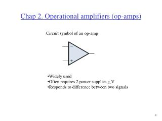 Chap 2. Operational amplifiers op-amps