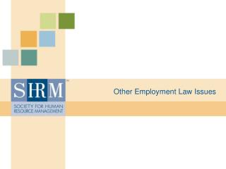Other Employment Law Issues