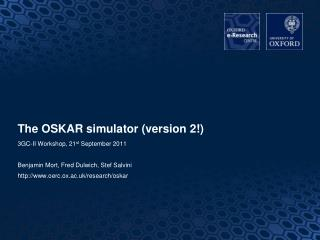 The OSKAR simulator (version 2!)