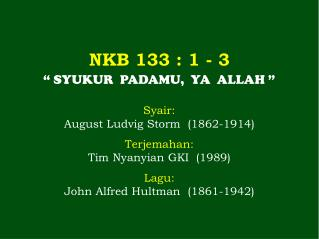 NKB 133  : 1 - 3