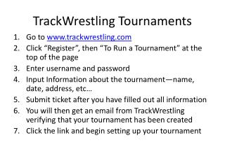 TrackWrestling Tournaments