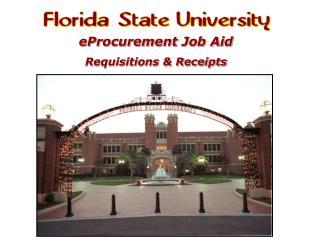 eProcurement Job Aid Requisitions & Receipts