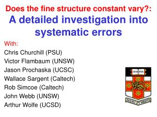 Does the fine structure constant vary?: A detailed investigation into systematic errors