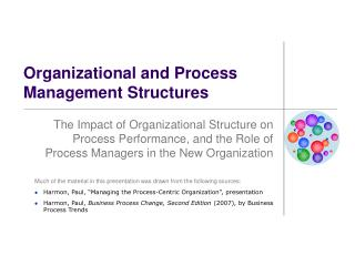 Organizational and Process Management Structures