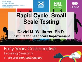 Rapid Cycle, Small Scale Testing David M. Williams, Ph.D. Institute for healthcare Improvement