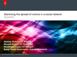 Stemming the spread of rumors in a social network