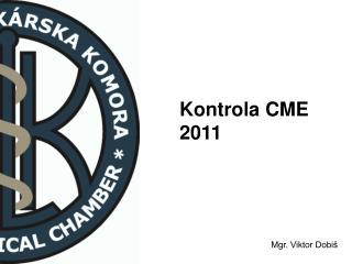 Kontrola CME 2011