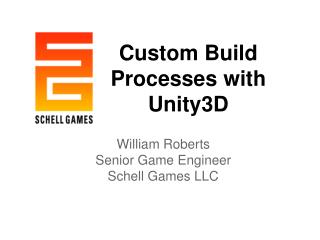 Custom  Build Processes with Unity3D