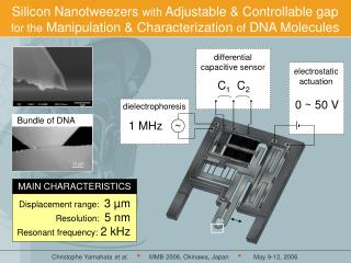 Silicon Nanotweezers  with  Adjustable & Controllable gap