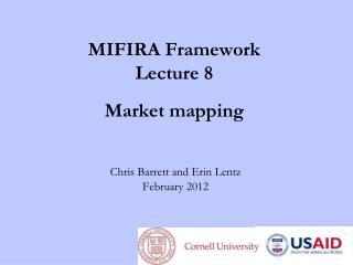 MIFIRA Framework Lecture 8 Market mapping