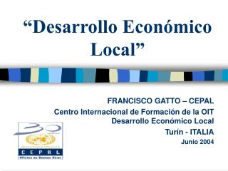 �Desarrollo Econ�mico Local�