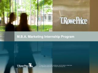 M.B.A. Marketing Internship Program