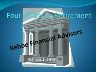 Four Pillars to Retirement