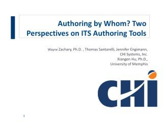 Authoring by Whom? Two Perspectives on ITS Authoring Tools