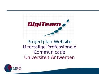 Projectplan Website  Meertalige Professionele Communicatie Universiteit Antwerpen