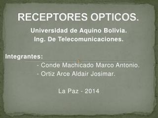 RECEPTORES OPTICOS.