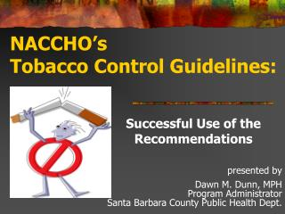 NACCHO's Tobacco Control Guidelines: