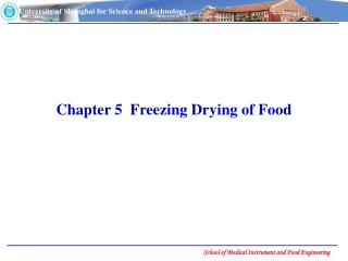 Chapter 5  Freezing Drying of Food
