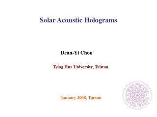 Solar Acoustic Holograms