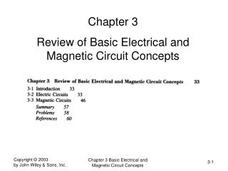 Chapter 3  Review of Basic Electrical and Magnetic Circuit Concepts