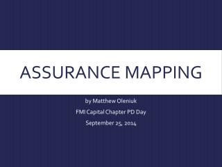 Assurance mapping