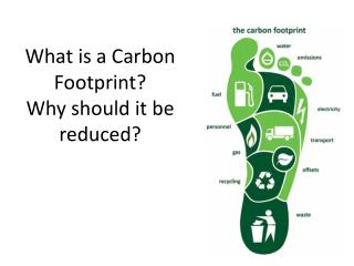 What is a Carbon Footprint? Why should it be reduced?