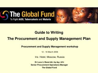 Guide to Writing The Procurement and Supply Management Plan