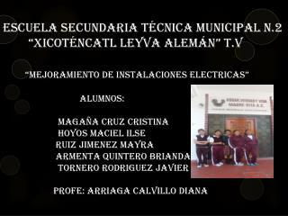 Mejoramiento de instalaciones electricas