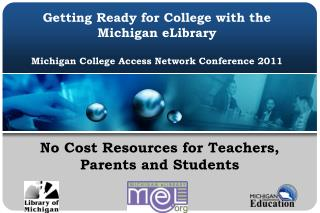 No Cost Resources for Teachers,  Parents and Students