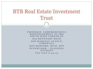 BTB Real Estate Investment Trust
