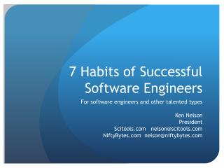 7 Habits of Successful Software Engineers