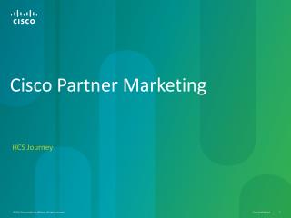 Cisco  Partner Marketing