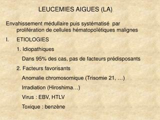 LEUCEMIES AIGUES (LA)