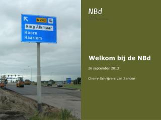 Welkom bij de  NBd