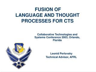 FUSION OF  LANGUAGE AND THOUGHT PROCESSES FOR CTS