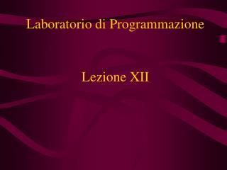 Lezione XII