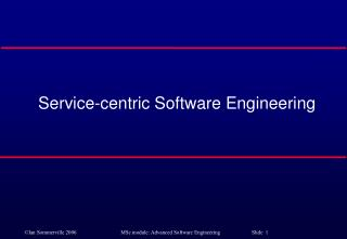 Service-centric Software Engineering