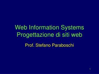 Web Information Systems Progettazione di siti web