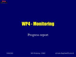 WP4 - Monitoring