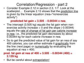 Correlation/Regression - part 2