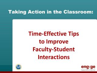 Taking Action in the Classroom: